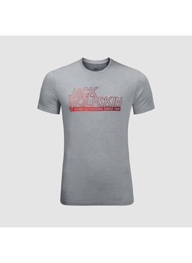 Jack Wolfskin Ocean Tee Erkek T-Shirt - 1806541-6046 Gri